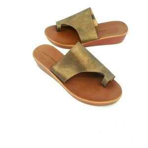 Lucky brand hansol bronze leather sandals
